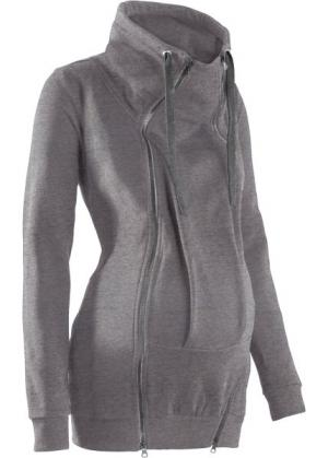 Теплая куртка для беременных и молодых мам (серый меланж) bonprix. Цвет: серый меланж