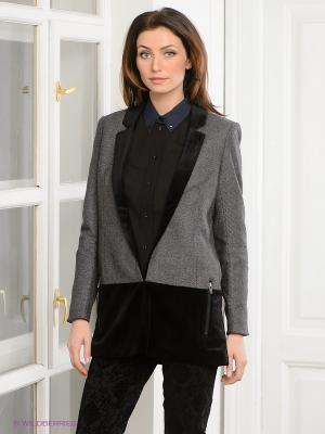 Блейзер Vero moda. Цвет: серый, черный