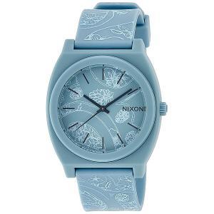 Часы  Time Teller P Light Blue/Paisley Nixon. Цвет: голубой