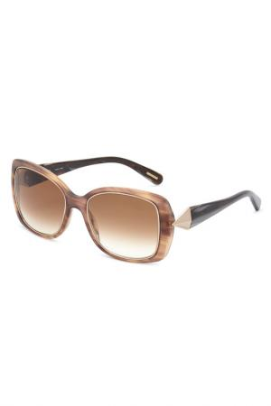 Очки солнцезащитные Givenchy. Цвет: коричневый