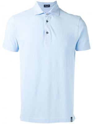 Классическая футболка-поло Drumohr. Цвет: синий