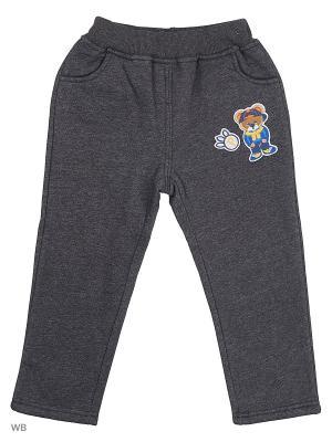 Утепленные брюки Sago Kids i Ant Domain. Цвет: темно-серый