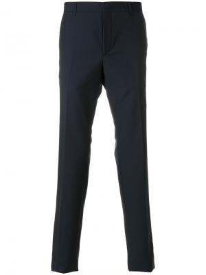 Классические укороченные брюки Prada. Цвет: синий
