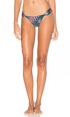 Плавки бикини с вырезами leaves Vix Swimwear. Цвет: зеленый