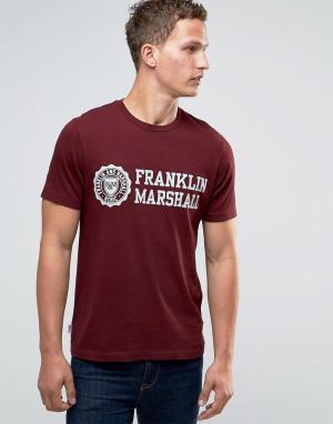 Franklin & Marshall Футболка с гербом and. Цвет: красный