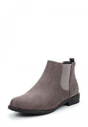Ботинки WS Shoes. Цвет: серый