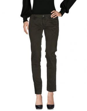 Повседневные брюки JFOUR. Цвет: темно-зеленый