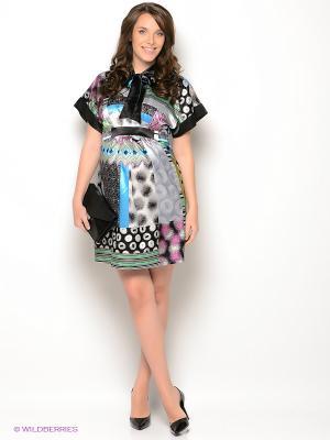 Платье UNIOSTAR. Цвет: черный, салатовый, голубой