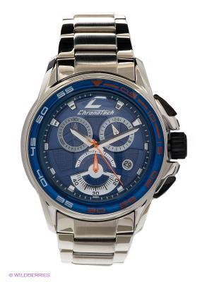 Часы Chronotech. Цвет: серебристый, синий