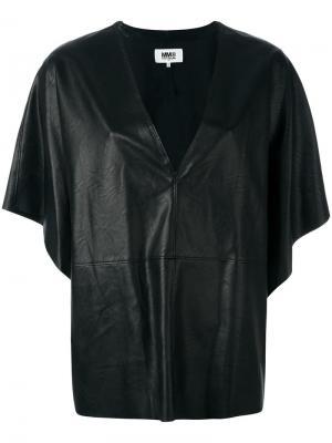 Плиссированная блузка Mm6 Maison Margiela. Цвет: чёрный