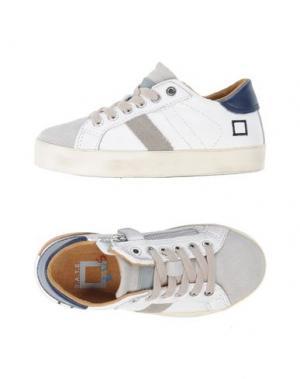Низкие кеды и кроссовки D.A.T.E. KIDS. Цвет: белый