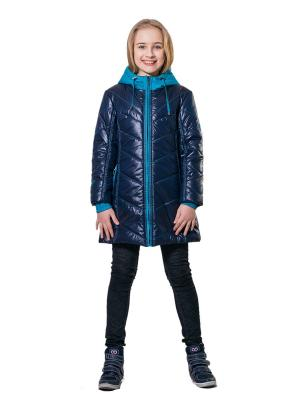 Пальто SAIMA. Цвет: синий