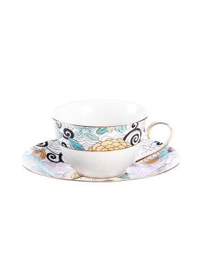 Набор чайный 2 предмета 220 мл. PATRICIA. Цвет: фиолетовый