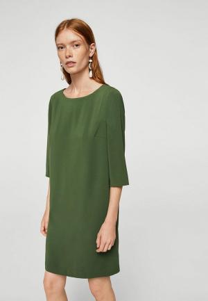 Платье Mango. Цвет: зеленый