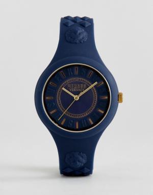 Versus Versace Часы с темно-синим силиконовым ремешком SOQ09 Fire Isla. Цвет: темно-синий