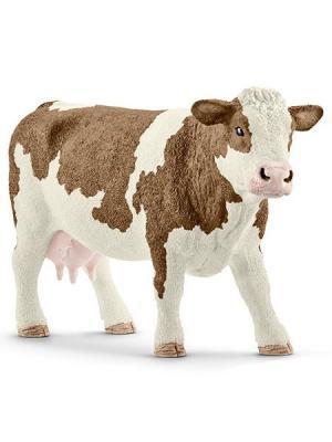 Серия Домашние животные - Симментальская корова SCHLEICH. Цвет: бежевый, белый