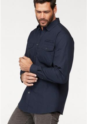 Рубашка MANS WORLD MAN'S. Цвет: темно-синий