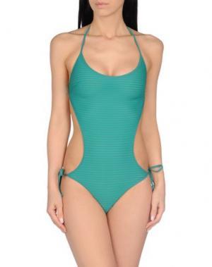 Слитный купальник FISICO. Цвет: зеленый