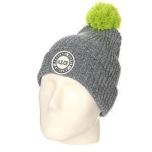 Шапка детская  Alpine Heathered Grey/Neon Lime Herschel. Цвет: серый,зеленый