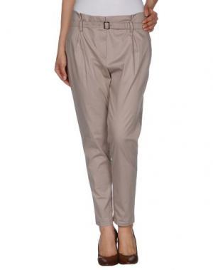 Повседневные брюки FABRIZIO LENZI. Цвет: голубиный серый