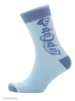 Носки lap n cap. Цвет: голубой