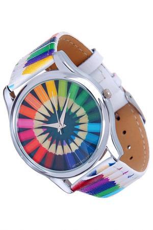 Часы Карандаши MITYA VESELKOV. Цвет: белый, зеленый