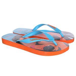 Вьетнамки  Eles Na Rua Orange/Blue/Black Havaianas. Цвет: оранжевый,голубой,черный