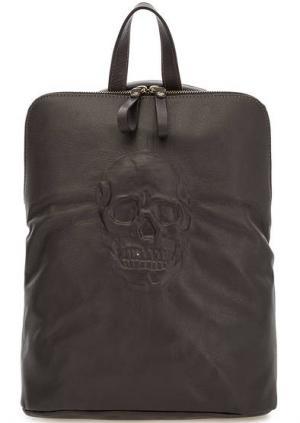 Сумка-рюкзак с одним отделом на молнии Io Pelle. Цвет: коричневый