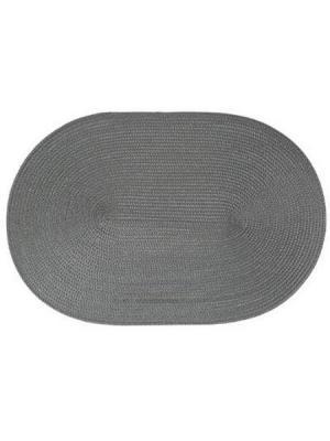 Салфетка под тарелку овальная, ПВХ 29,5х44,5 см JJA. Цвет: серый