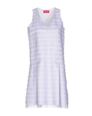 Платье до колена CARLO CONTRADA. Цвет: сиреневый