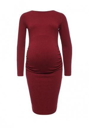 Платье MammySize. Цвет: бордовый