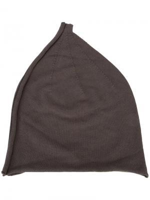 Шапка-бини с изнаночным швом Label Under Construction. Цвет: серый