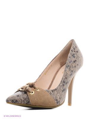 Туфли Moda Donna. Цвет: серый, бледно-розовый