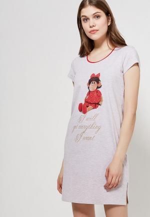 Сорочка ночная Cleo. Цвет: бежевый