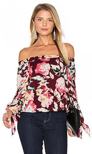 Блуза с открытыми плечами Eight Sixty. Цвет: красное вино