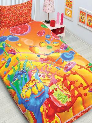 Комплект постельного белья Chupa-Chups Chupa Chups. Цвет: красный, оранжевый, желтый