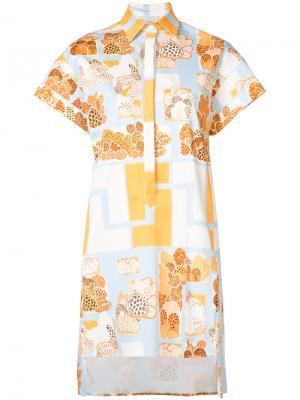 Платье-рубашка Stevens Novis. Цвет: синий