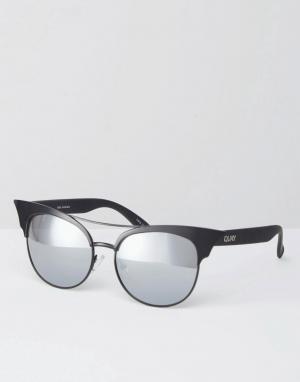 Quay Australia Солнцезащитные очки кошачий глаз с зеркальными стеклами. Цвет: черный