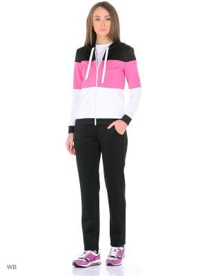 Спортивный костюм FORLIFE. Цвет: черный, розовый, белый