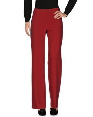 Повседневные брюки CARLA MONTANARINI. Цвет: красно-коричневый