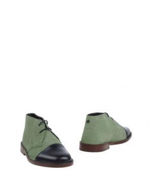 Полусапоги и высокие ботинки FABRIZIO MANCINI. Цвет: светло-зеленый
