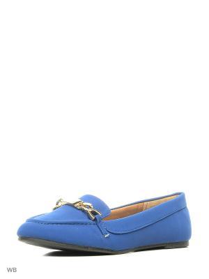 Туфли Qupid. Цвет: синий