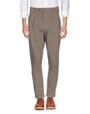 Повседневные брюки QUINTESSENCE. Цвет: хаки