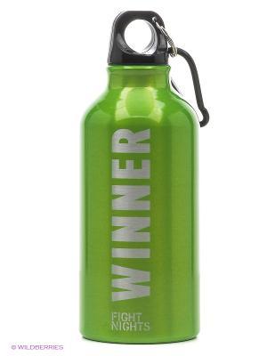 Бутылка для воды Fight Nights. Цвет: зеленый