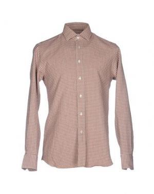 Pубашка SALVATORE PICCOLO. Цвет: коричневый