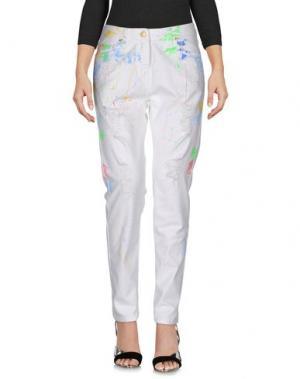 Джинсовые брюки RE-HASH. Цвет: белый