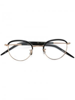 Солнцезащитные очки в круглой оправе Eyevan7285. Цвет: чёрный