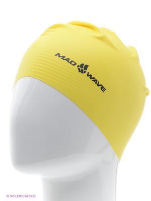 Шапочка для плавания Mad Wave. Цвет: желтый