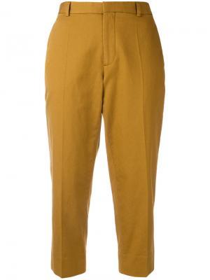 Укороченные брюки Maison Margiela. Цвет: коричневый