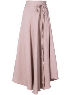 Асимметричная юбка с поясом Apiece Apart. Цвет: телесный